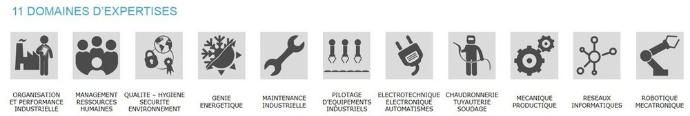domaines expertises formation industrie